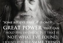 Great quotes / All about great quotes; could be from fictitious characters or real people
