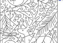tél-színezők, összekötők,labirintusok