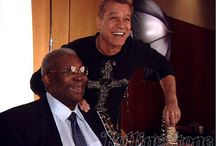 Eddie van halen with BB King at a Rolling Stone cover shoot…