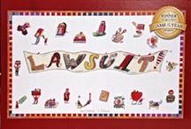 """LEGAL-THEMED BOARD GAME FOR 8 & UP / LAWSUIT! board game is unique. It's the first legal game for the whole family. The game teaches in a fun way what it's really like to be a lawyer. It teaches about the law and the legal process  using attractive graphics and fun, whimsical, legal scenarios. Bring LAWSUIT! to your next Family Game Night (or, if you're a teacher into your classroom) and have everyone laughing. LAWSUIT! makes a great, unique, holiday gift. It's won 8 """"Game of the Year"""" awards."""
