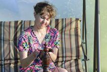Angora yarn, spinning. / Из пуха ангорских кроликов я создаю шикарную ангорскую пряжу, нежную и шелковистую. Пряду на старинной русской самопрялке. Весь процесс - ручная работа.