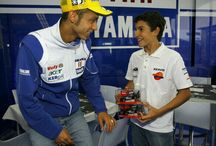 Valentino Rossi With Young MotoGP Riders