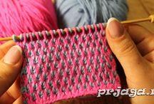 вязание два цвета
