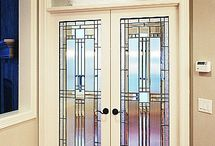 front doors stainec glass