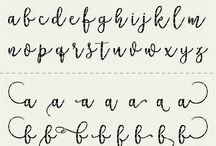 modern caligrafy