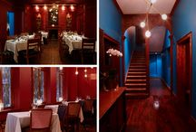 La Mouette Restaurant / A fine dining restaurant in Cape Town that our studio redesigned in custom designed colours