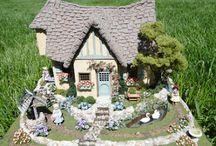 Fairy Cottage Quarter Scale / Visiter le blog dont les photos sont issues, ici: http://donnahager.blogspot.nl/