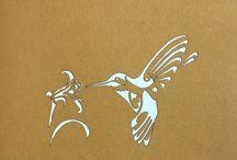 en papel colibrí