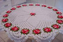 centro de mesa em crochês