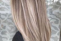 włosy blond sombre