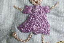 Girl made out of embroidery thread