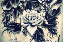 Tattoo ink paintings