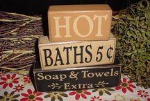Bathroom Decorations / Rustic Decor and Design ideas for your bathroom