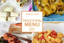 Traditional Freezer Meal Menu August 2015 / by Once A Month Meals