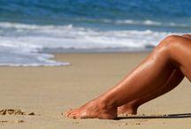 Beautiful natural tanned skin