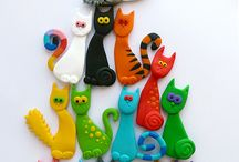 Chat pate Fimo
