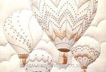 Embroidered Lampshades