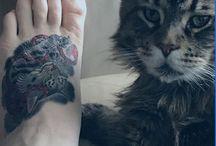 Tatuagens de gatos / Lindos e maravilhosos, esses bichinhos ficam incríveis na pele e o que não faltam são inspirações para marcar esse amor!