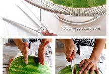 Corte melancia