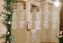 Wedding Details ♡ Seating Chart Ideas