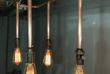 Kopperrør taklampe