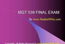 MGT 538 FINAL EXAM