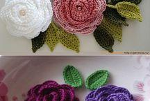 Kwiatki włóczkowe