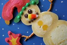 Pancake Art / Artistic pancakes, painted pancakes, fun pancakes for kids.  / by Hungry Happenings - holiday recipes and party food