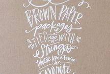 Typography and Handlettering / by Laura Davis