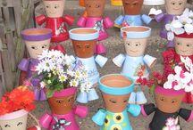 Bonecos de vasos