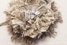 Shabby flower / Hessian rag