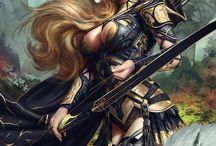 redoutables / Amazones, guerrières, fantasme de femmes aussi désirées que redoutées ...