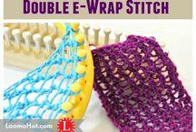 double e  wrap stitch technique