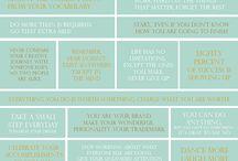 Motivational phrases / Positive thinking