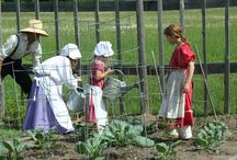 Children's Community Garden / Children are mentored in gardening skills weekly during the summer months. They have a blast connecting with the past. Community members have plots in the garden as well.   -  Heritage Village at Mackinaw