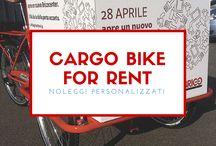 Cargo Bike for Rent - noleggi personalizzati per aziende / Cargo Bike, un mezzo che non passerà inosservato per promuovere la vostra attività o evento. Una cargo bike personalizzata con la vostra immagine è un mezzo con una visibilità eccezionale, zero impatto ecologico ed un ottimo mezzo per movimentare merci all'interno di fiere ed eventi.