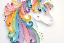 quilling unicorno