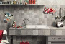 Chatařsky a chalupářsky! / Dlažby, obklady, mozaiky a koupelnové vybavení v chalupářsko - chatařském stylu.