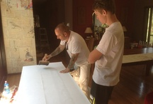 Wallpaper Hanging Gold Coast and Brisbane / Our team at Wow Wallpaper Hanging in action!
