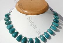Chrysocolla Gemstone Beads / Chrysocolla is first stone known for the purpose of communication. Each essence of stone is devoted to expression, teaching and self empowerment. Buy Chrysocolla Gemstone Beads by Ratna Sagar Jewels