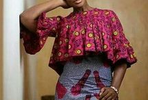 African print semi casual