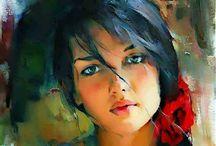 immagini dipinte / pitture ad olio ed altro...