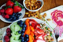 Healthy salads and food
