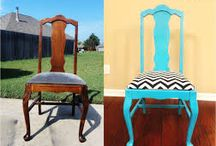 Repurposing Furniture from Trash to Treasure / Refinishing old furniture, repurposing with a little TLC and paint. All great ideas for home décor and DIY