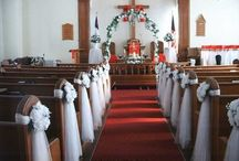 Church Wedding Decor / Church wedding decoration ideas