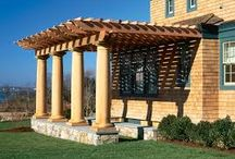 Pergola Ideas / Many of our customers add a pergola over their cedar hot tub. Here are some ideas.