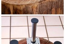 mesa de tronco de arvore