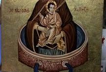 Vergine Fonte della Vita / Vergine Fonte della Vita. Rivisitazione e studio su tema. Opera su commissione.