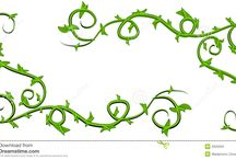 Vines for ankle tattoo
