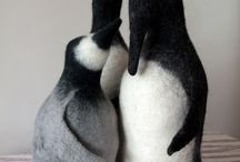 Felt animals-penguins